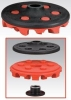 RED-TRED ERASER DISC COMPLETE ASSEMBLY